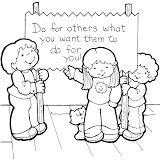 The Golden Rule Coloring Kids Sunday School Lessons Sunday