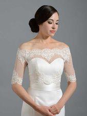 lace bolero wedding jacket WJ004