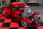 1934 Ford Coupe Hot Rod   – Fahrzeuge / Automobiles