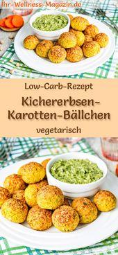 Low Carb Chickpea & Carrot Balls mit Pesto – Vegetarisches Hauptgericht