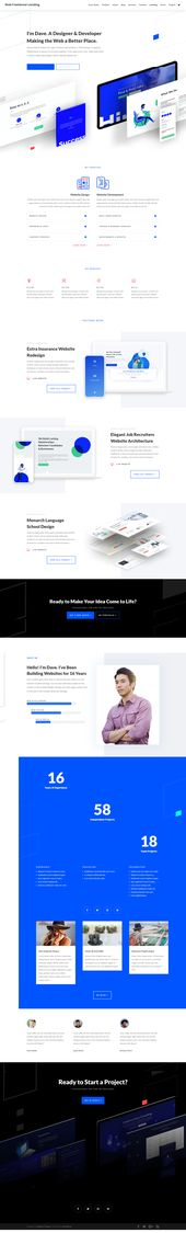 Free Freelance Web Designer/developer Portfolio Website Template Design Inspiration