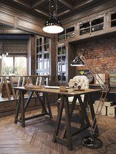 25 Super Rustic Home Office Designs