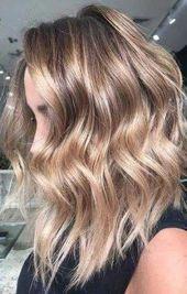 Haarfarbe Highlights Blond Wenig Licht Braun Haarschnitte 37 Ideen #haar #hellbraun …