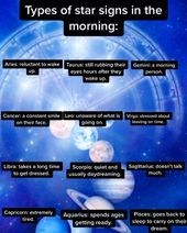 types of signs in the mornings… #geminifacts #geminis #zodiacsigns #zodiac #ge…