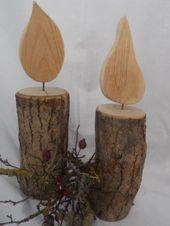 Wunderschöne Kerze aus Holz (groß) – Wunderschöne Kerze aus Holz (groß) #cand …