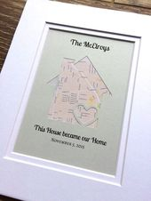 Housewarming Gift – This House Became Our Home -Personalized Map Housewarming Gift- Christmas Gift For a Family – First Home Gift – Gift for