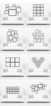 Different ideas for a creative photo wall