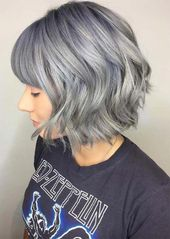 Silver Hair Trend: 51 Cool Grey Hair Colors & Tips for Going Gray   – black hair trends