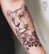 Reposted von @lama_del_ray – Lioness Dons bei … #tattoo #tattoos #tattooed #art …