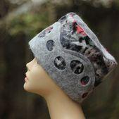 Grau gefilzt Hut Womans grau Hut Damen Winter Hüte handgefilzte Hüte Hut aus W… – Hutmodelle