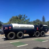 M978 Hemtt Tanker Used By The San Jose Police Department To Support Its Aviation Assets 10aug15 Military Vehicles Monster Trucks Police Department