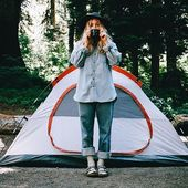 Jag hatar faktiskt camping lol, men den här bilden gör att det ser roligt ut. #campingpicture …