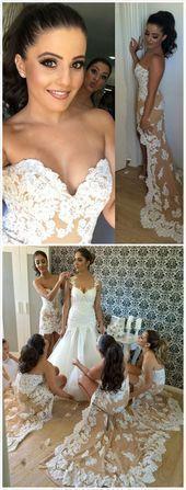 Ericdress Sweetheart Appliques High Low Bridesmaid Dress # BeautyBlog #MakeupOfThe …