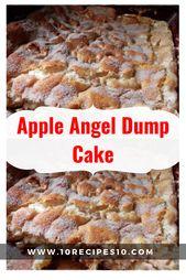 Einfaches, leckeres und gesundes Apple Angel Food Dump Cake Rezept von SparkReci … – food