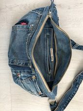 Repurposed Levis Jeans Denim Umhängetasche | Etsy – #Bag #Crossbody #Denim #Etsy …