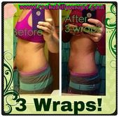 She has only used 3 wraps so far and look at her real, noticable, amazing result…
