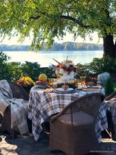 'In Fine Feather' Alfresco Fall Table + Arrangement