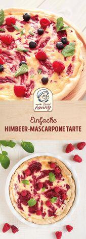 Himbeer-Mascarpone Tarte – desserts