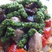 Low Carb Food: Meatza – Pizzabelag auf Hackfleisch. Sehr lecker!!!