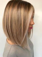 Mittellange blonde Frisuren 2018 #Mittellange #blo…
