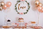 DIY #Bridal Shower Pink White & Gold # AzlinPhotography