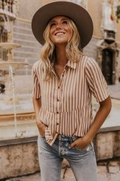 Eliana Stripe Button Up