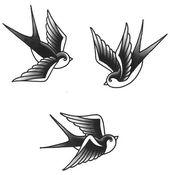 Hirondelle de tatouages temporaires – oiseau Tattoo – Tatouages temporaires – faux Tattoo – Hirondelle tatouages – traditionnels tatouages temporaires