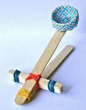 Machen Sie Spielzeug wie dieses selbst katapultieren. Budge – Erziehung – Tagespflege
