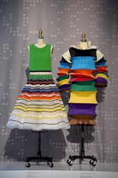 "From ""Manus x Machina: Fashion in an Age of Technology"" exhibition, Metropolitan Museum of Art, NYC: Christian Dior and Issey Miyake."