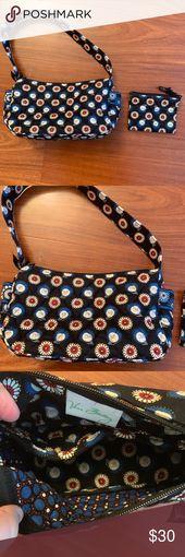 Night Owl Vera Bradley Handbag and Coin Bag Set Ni…