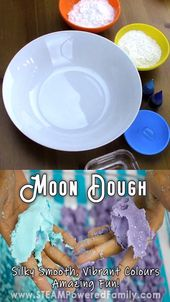 Amazing Moon Dough Recipe with Secret <a href=