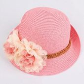 Kids Floral Straw Hat – Dolls