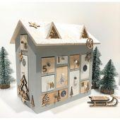 Calendrier de l'Avent maison 3D – 30 cm