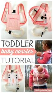 Baby Carrier Follow these step-by-step instructions to make a baby carrier for a toddler. Jus...