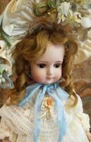 Details about Antique German brown eyed Kloster Veilsdorf Greiner type china doll with repair