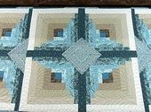 log cabin blocks…love the colors!