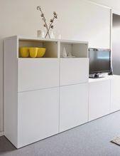 Living room, Scandinavian interior, Ikea Stand, TV bench, …