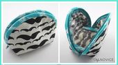 Sew a Clam Shell Cosmetic Bag – Free Sewing Video | PatternPile.com – sew, quilt…