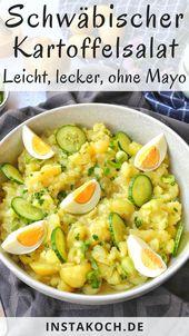 Schwäbischer Kartoffelsalat – Einfach lecker ohne Mayo – Feelgoodfoodandmore │ Alle meine Kochrezepte