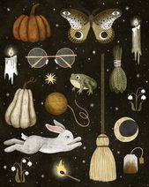 October nights print