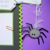 Baby's 1st HALLOWEEN 12×12 Scrapbook Pages – Premade Layout – First Holidays – Baby Boy or Girl – Scrapbooking