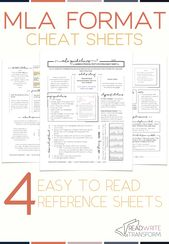 The right MLA format cheat sheet for center and excessive schoolers
