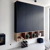 Garderobenwand mit Ikea Metod mit Fenix-Fronten – …