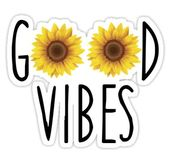 'Good Vibes' Sticker by Alana Poser