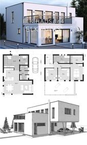 Modern Luxury Villa House Plan & Bauhaus Architecture Design Ideas – ELK Haus 164