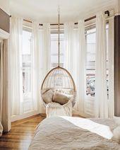 Let's swing, shall we? # Hammock chair #swing #chair #bedroom ideas #bedroom design