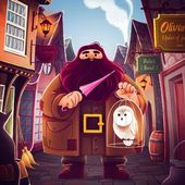 Illustration Hagrid Harry Potter Fan Art Marie Vanderbemden