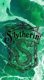 Slytherin Phone background/wallpaper. Has Slytherin symbol, use of house color a…