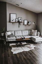 59 graue Designs für kleine Wohnzimmerwohnungen, die fantastisch aussehen 52