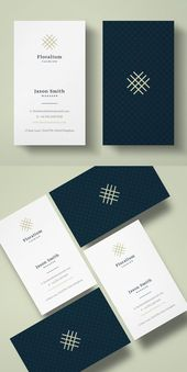 Illustrator Business Card Clean Business Card Template #businesscards #cleandesign #minimaldesign #minimal...